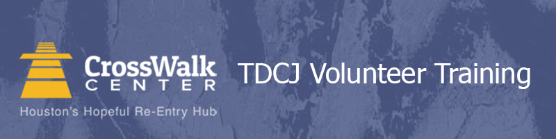 TDCJ Volunteer Training